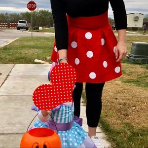 Homemade Adult Minnie Mouse Skirt Costume M